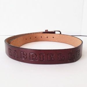 Personalized Leather Belt Gabrielle